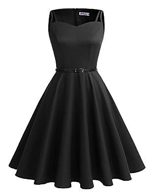 Alagirls Vintage 1950s Rockabilly Polka Dots Dress Retro Party Cocktail Dress