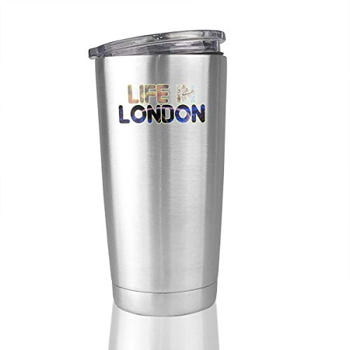 Life In London 20 Oz Stainless Steel Vacuum Insulated Tumbler Coffee Mugs Unique Gifts ()