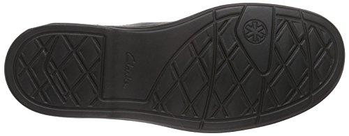 Clarks Color Leather Vestir black Butleigh De Negro Zapatos Hombre sin Free Cordones rFqrR