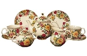 The Queen's Treasures Heirloom Quality Children's Tea Party Set – Fine China Service for Two, Baby & Kids Zone