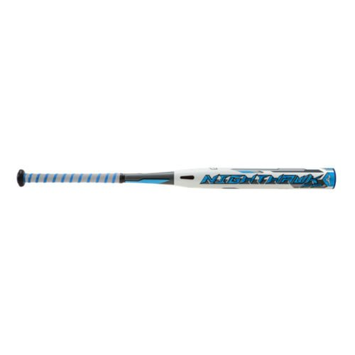 Mizuno 2016 Nighthawk Softball Bat, White/Blue, 30'/19 oz