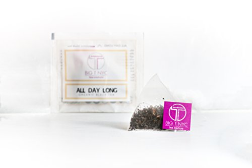 BIG T NYC Energizing Black Tea, Premium Organic Loose Leaf Tea Sachets High In Antioxidants and Zero Calories (All Day Long black tea, 50-count ()