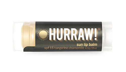 Sun Hurraw! Lip Balm: Sun Protection, SPF 15, Zinc Oxide Sunscreen, Organic, Certified Vegan, Certified Cruelty Free, GMO Free, Gluten Free, All Natural – Luxury Lip Balm Made in the USA – SUN (Panel Zinc)