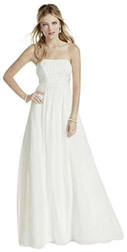 Petite-Chiffon-Wedding-Dress-with-Beaded-Lace-Style-7NTV9743