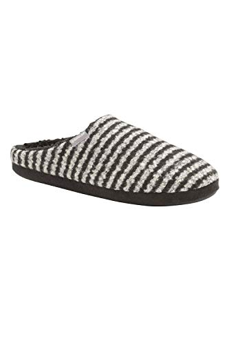 Dunlop Mens Mule Slippers - Linus - Black/White - UK11