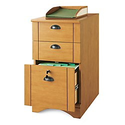 Realspace(R) Dawson 3-Drawer Vertical File Cabinet, 29in.H x 15 1/2in.W x 21 3/4in.D, Canyon Maple by Realspace
