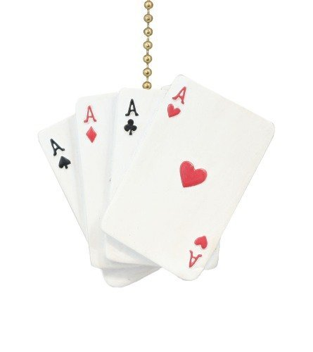 Clementine Design Aces Playing Cards Ceiling Fan Pull