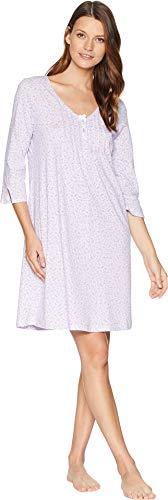 Carole Sleepshirt - Carole Hochman Women's Sleepshirt, Lavender Print, Medium