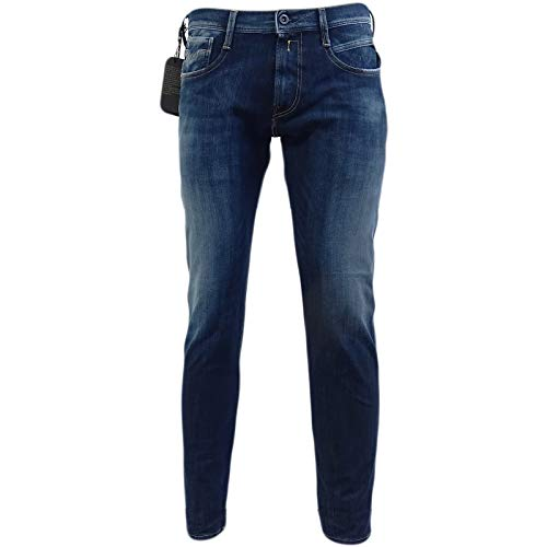 Replay Dark Blue Hyperflex Stretch Slim Fit Jean - M914-661-S14-007 34/32