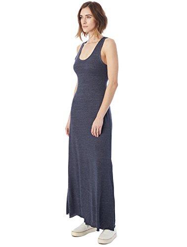 Jersey Scoop Neck Dress - Alternative Women's Eco Racerback Maxi Dress, Eco True Navy, X-Large
