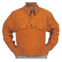 Leather Cape Sleeves, Snaps Closure, Large, Golden Brown (2 Pack)