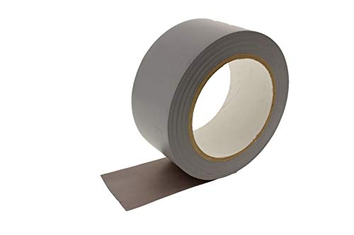 2″ Gray Vinyl Floor Tape 7 Mil Rubber Adhesive Sealing Warning OSHA Caution Marking Safety Electrical Removable PVC Tape 36yd