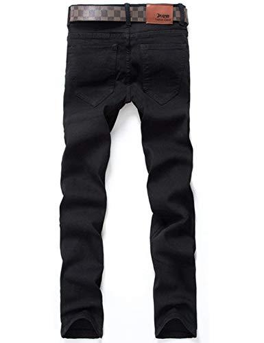Tempo Mens Retro Pantaloni Dritti Nero Denim Adelina Jogger Jeans Cargo Libero Abbigliamento Stretch Skinny 1xwa06SqIg