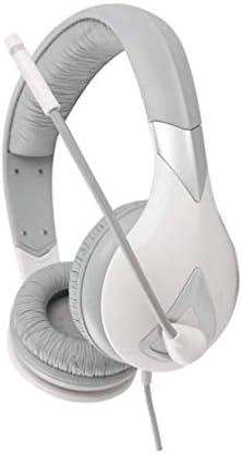 ファッショナブルなゲーミングヘッドセット、マイク付きノイズ低減ヘッドセット、マルチチャネル7.1機能付きのクラシックな発光ヘッドセット-Whit