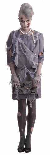 Woman's Zombie Costume, Gray, One Size -