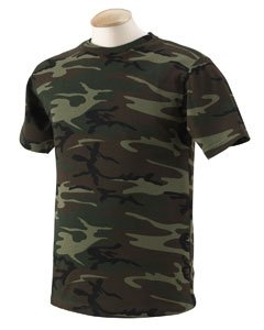 (Code V Adult Camouflage T-Shirt (GREEN WOODLAND) (XL))