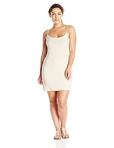 Blu Pepper Women's Plus Size Cami Slip Dress, Nude, 2X