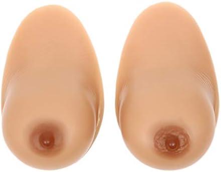 Fbestxie Pechos falsos realistas Formas de senos falsos Prótesis de mastectomía de silicona Tetas autoadhesivas para travesti Travesti Travesti Cosplay XL