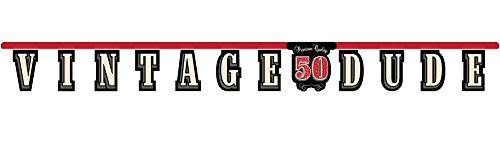 Creative Converting Vintage Dude 50th Birthday Jointed Letter Banner (2-Pack)