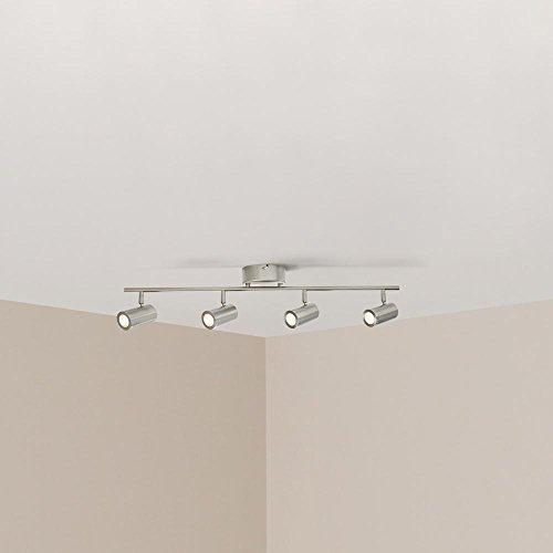 Hampton Bay HBT102527-35 2.6 ft. 4-Light Brushed Nickel Integrated LED Track Lighting Kit (Modern Nickel Track Kit)
