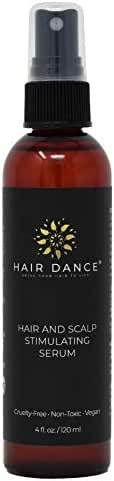 Hair Growth Stimulator for Thicker, Faster Hair Growth, Healthy Scalp. Research-Based Caffeine, L-arginine Potent DHT Blocker. Herbal, Hair Loss Treatment. Label Look May Vary! 4 oz. by Hair Dance