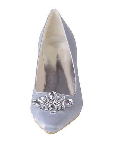 ShangYi Chaussures de mariage - Noir / Bleu / Violet / Ivoire / Blanc / Argent / Champagne - Mariage / Soirée & Evénement - Bout Carré - Talons - , 2in-2 3/4in-ivory