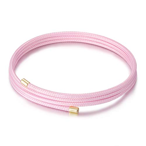 (CIUNOFOR Red Bracelet for Women Girls Italian Style Adjustable DIY Bracelet Black Magnetic Bracelet for Men Boys with 130 Magnets and ChristmasFactorHue(Pink))