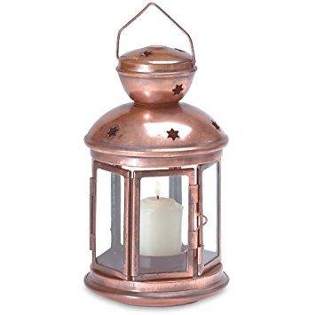 - Star Cutout Candle Lantern - Bronze