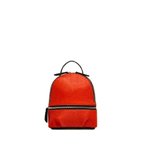 Sulmoe - Bolso mochila  de Ante para mujer naranja naranja