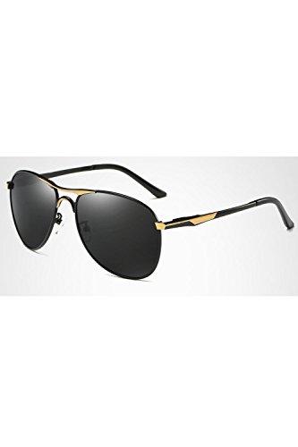 Los Metal Hombres De De De Gafas Polarizadas De Dientes Black3 Gafas Lentes Sol Frame gqgdEwxPrn