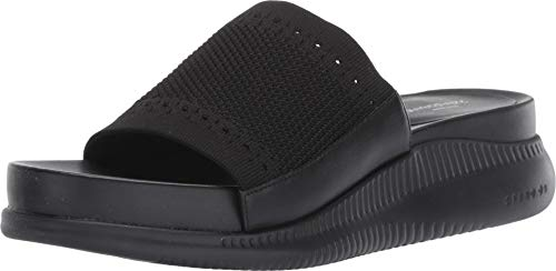 Haan A The Womens Cole Slide - Cole Haan Womens 2 Zerogrand Slide Sandal 30mm 6 Black Stitchlite