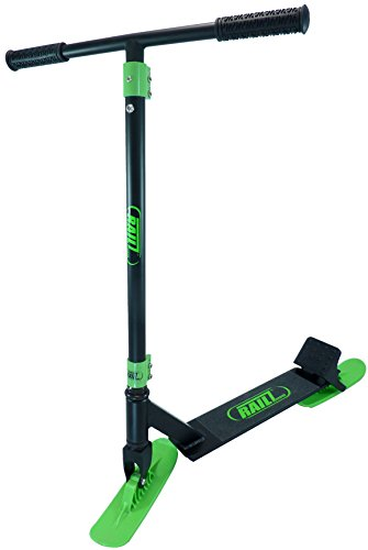 RAILZ Pro BD-5.0 Snow Kick Scooter - Black & Green