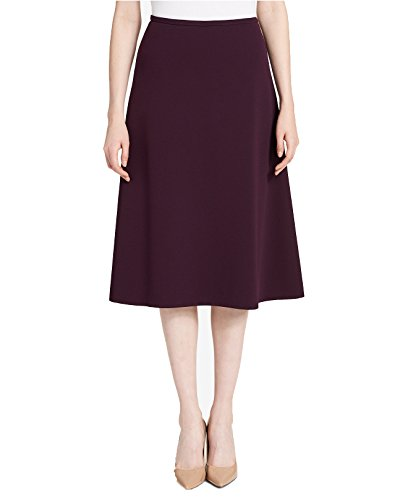 Calvin Klein Women's Crepe A-Line Skirt (Aubergine, 14)