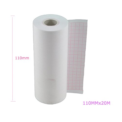 Denshine 4 Rolls Thermal Recorder Paper, Printer Paper for ECG EKG Machine/Electrocardiograph (6 channel 110mmx20m)