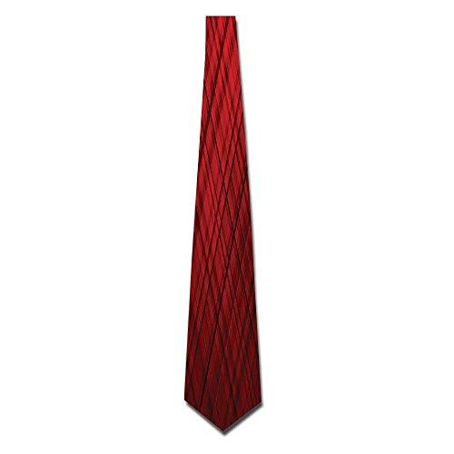 (WuLion Scottish Kilt Design Pattern With Stripes Lines Squares Ombre Image Men's Classic Silk Wide Tie Necktie (8 CM))