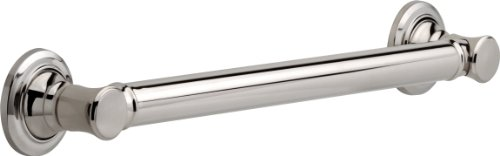 Delta Faucet 41618-PN Traditional Bathroom Safety Grab Bar, 18-Inch, Polished Nickel