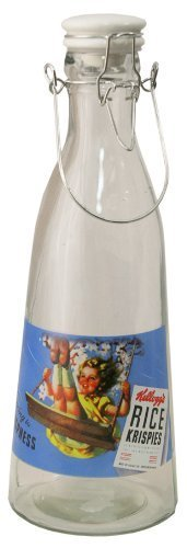 Carousel Home Kelloggs Retro Glass Bottle Blue (Retro Carousel)