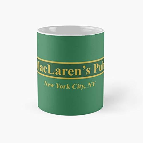 MacLaren's Pub, New York – How I Met Your Mother Mug, maclarens pub Cup, 11 Ounce Ceramic Mug, Perfect Novelty Gift Mug, Funny Gift Mugs, Funny Coffee Mug 11oz, Tea Cups 11oz -