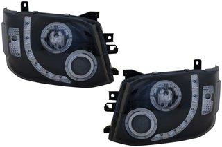 SONAR(ソナー) LEDヘッドライト 切れ 水漏れ1年間保証付! DRLスタイル プロジェクター ブラック インナー 97-00 VW パサート (3B) B007NIW172 97-00 VW パサート (3B)  9700 VW パサート (3B)