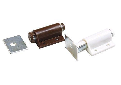 Magnetschnäpper Magnetschnapper Druckschnapper Weiß oder Braun inkl. Gegenplatte (Weiß) Amig