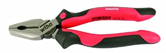 Wiha 30901 6.3 Inches Ergo Soft Grip Industrial Combination Pliers