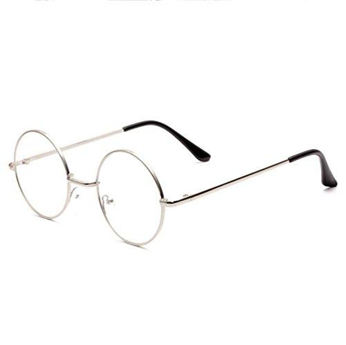 Z&YQ clair lentille Lunettes anti-fatigue à lunette ronde myopie miroir aviateur , gold frame