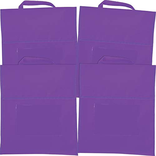 Really Good Stuff Solid Color Book Pouches Set of 4