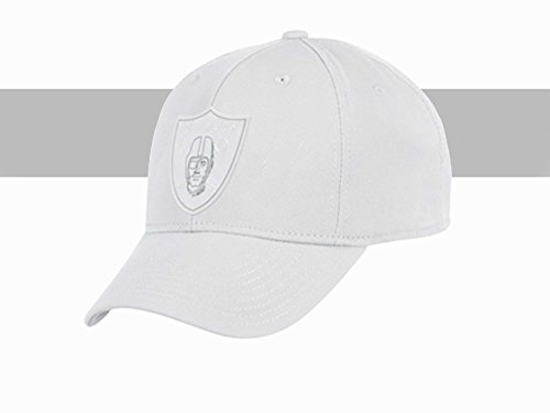 Oakland Raiders White Tonal Flex Fit Hat Large/X-Large