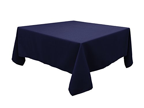 HIGHFLY Linen Square Tablecloth 52 X 52 Inch Waterproof Navy Blue Tablecloth for Home Kitchen Dining Room