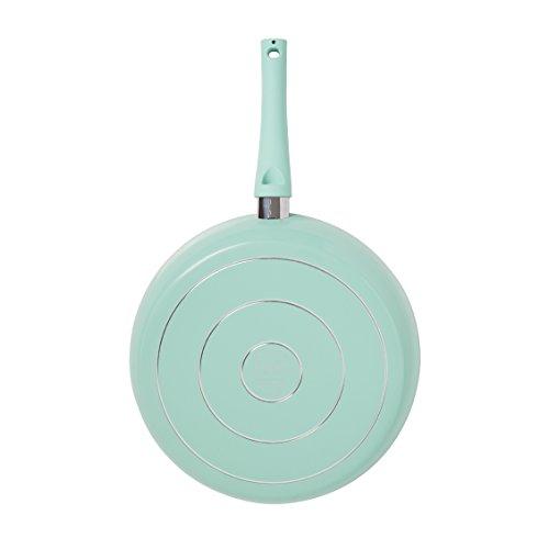 IKO Crema Collection Ceramic Non Stick Fry Pan Dishwasher Safe (12 INCH, Green)