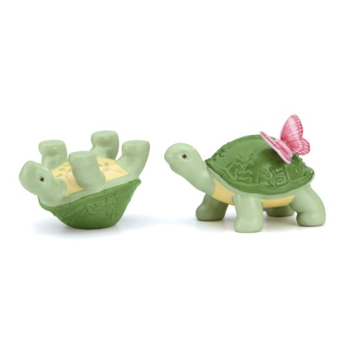 Lenox Butterfly Meadow Figural Turtle Salt and Pepper Set - Cute Turtle