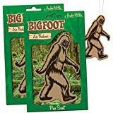 BIGFOOT Air Freshener - 2 Pack Pine Scent - For Car RV Trailer Tent - Best Yeti Sasquatch Bigfoot Gifts