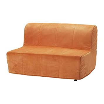 ikea lycksele two seat sofa bed cover henan orange amazon co uk rh amazon co uk Single Chair Bed IKEA Leather Sofa Chair Bed