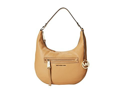 Michael Kors Rhea Zip Medium Shoulder Bag in Suntan by Michael Kors